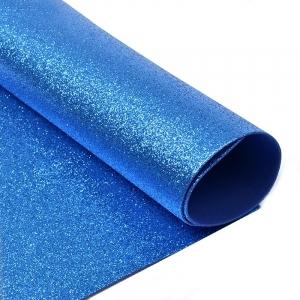 Фоамиран глиттерный Magic 4 Hobby 2 мм арт.MG.GLIT.H007 цв.синий, 20х30 см