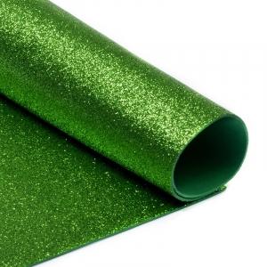 Фоамиран глиттерный Magic 4 Hobby 2 мм арт.MG.GLIT.H009 цв.зеленое яблоко, 20х30 см