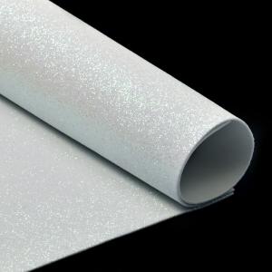 Фоамиран глиттерный Magic 4 Hobby 2 мм арт.MG.GLIT.H020 цв.белый, 20х30 см