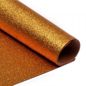 Фоамиран глиттерный Magic 4 Hobby 2 мм арт.MG.GLIT.H035 цв.медный, 20х30 см