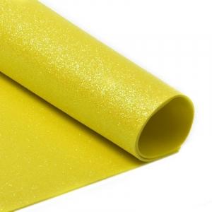 Фоамиран глиттерный Magic 4 Hobby 2 мм арт.MG.GLIT.H047 цв.желтый, 20х30 см