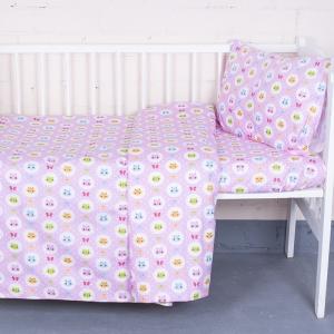Постельное белье в детскую кроватку из бязи ГОСТ 92221 с простыней на резинке