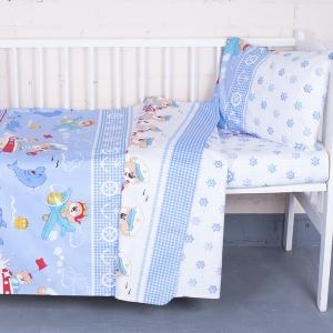 Постельное белье в детскую кроватку из бязи ГОСТ 92931 с простыней на резинке
