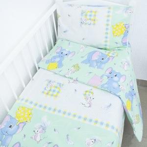 Постельное белье в детскую кроватку 92981 бязь ГОСТ с простыней на резинке