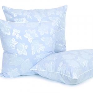 Подушка Лебяжий пух 40/60 Розы цвет голубой