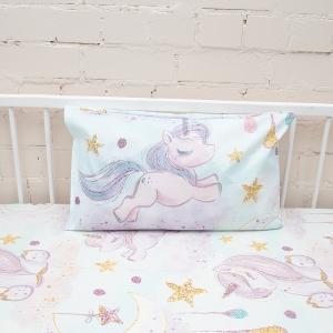 Наволочка перкаль детская 13249/1 Unicorns Модель 4 в упаковке 2 шт 50/70 см