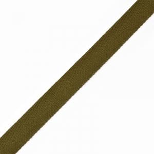 Тесьма киперная 10 мм хлопок 1.8 гр/см цвет оливковый