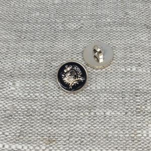 Пуговица ПР199 12 мм черная герб золото уп 12 шт