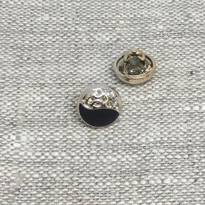 Пуговица ПР200 11 мм черная золото уп 12 шт