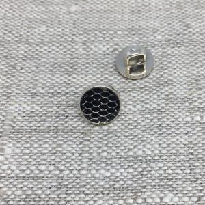 Пуговица ПР205 9 мм черная глянцевая уп 12 шт