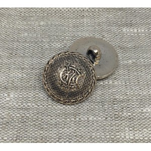 Пуговица ПР206 25мм  золото черная эмаль герб уп 12 шт