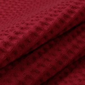 Ткань на отрез вафельное полотно гладкокрашенное 150 см 240 гр/м2 7х7 мм цвет 066 бордо