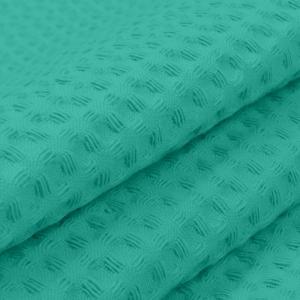 Ткань на отрез вафельное полотно гладкокрашенное 150 см 240 гр/м2 7х7 мм  цвет 530 изумруд
