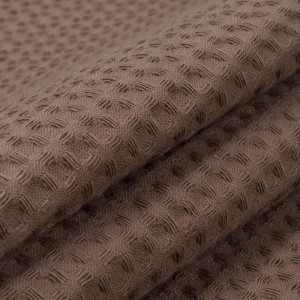 Ткань на отрез вафельное полотно гладкокрашенное 150 см 240 гр/м2 7х7 мм  цвет 842 шоколад