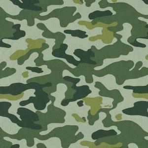 Ткань на отрез бязь ГОСТ Шуя 220 см 20126/1 Камуфляж цвет зеленый