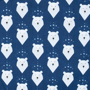 Бязь 120 гр/м2  детская 150 см 7259/1 Белый медведь