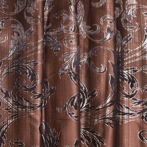 Портьерная ткань с люрексом 150 см Х7187 цвет 14 коричневый ветка