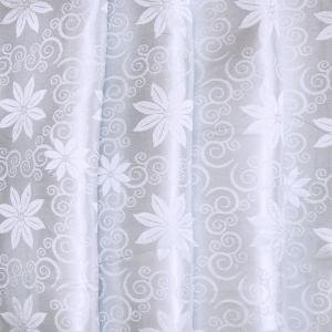 Портьерная ткань 150 см 16 цвет серый цветы