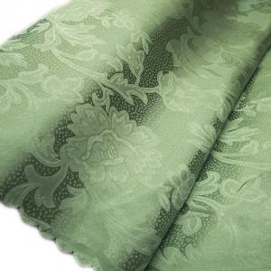 Портьерная ткань 150 см 28 цвет зелёный вензель