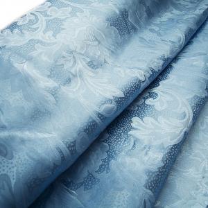 Портьерная ткань 150 см 68 цвет голубой ветка