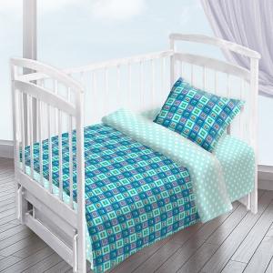 Постельное белье в детскую кроватку из перкаля 13181/1+13165/2
