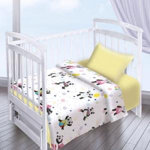 Постельное белье в детскую кроватку из перкаля 13092/1+13165/4