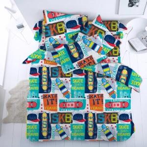 Детское постельное белье 13106/1 Скейт1.5 сп перкаль