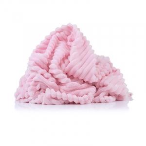 Плюш Минки Полоса Китай 180 см на отрез цвет розовый