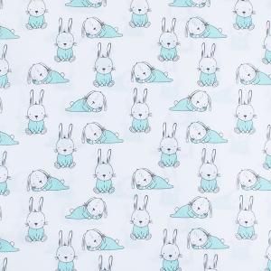 Отрез 150х150 Поплин 150 см 1956/1 Кролики